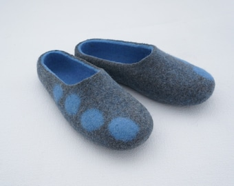 Felted slippers Felted wool slippers Felted women slippers Soft wool Organic women slippers
