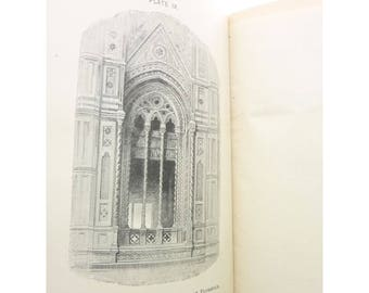 The Works John Ruskin SEVEN LAMPS Architecture Painting Antique Book 1st Edition