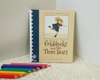 Fairytale Journal, Goldilocks Journal, Keepsake Book, Story Book Journal, Writers Diary, Childrens Art Book, Guest Book, Visual Notebook