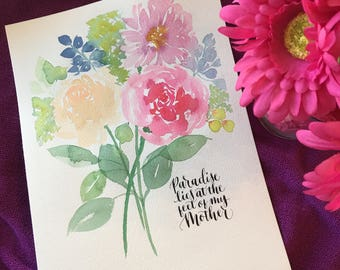 Mother's Day watercolor bouquet