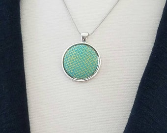 Necklace - Girasol - Wrap Scrap - Wrap Scrap Necklace - Green and Yellow