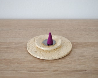 Wearing beige incense speckled ceramic