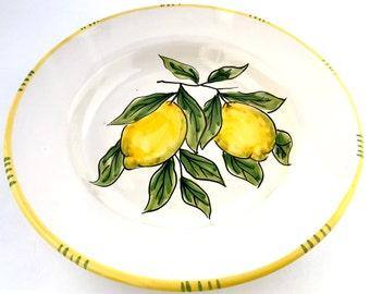 Handmade deep (pasta) plate Sorrento design