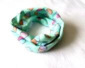 Aqua Baby Infinity Scarf - Aqua Toddler Infinity Scarf - Aqua Scarves - Scarves for girls- Scarves for boys - Infinity scarves