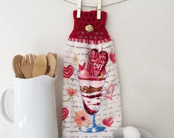 Valentine's Day Towel - Milkshake Decor - My Milkshake brings all the boys - My Milkshake - Share the Love - For Her - For Them - Gift