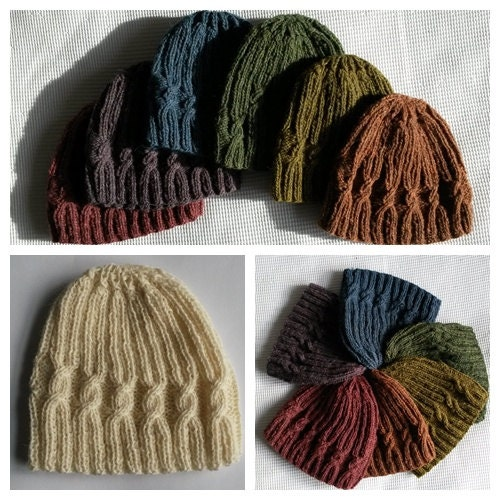 Small Spiral Cable Hat pattern