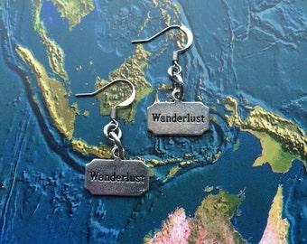 World travel wanderlust earrings - travel gift - globetrotter - explore - adventure!