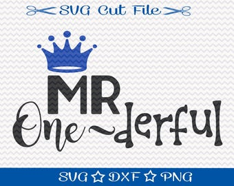 Birthday SVG File / Mr Wonderful Svg / Happy Birthday SVG / Little Boy Birthday Svg / First Birthday Svg