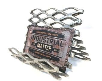 Industrial Style Metal Business Card Holder for Desk, Gift For Him, Christmas Gift, Birthday Gift, Gift For Men