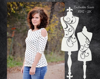 The Anniversary Top (Women's Sizes) PDF Sewing Pattern