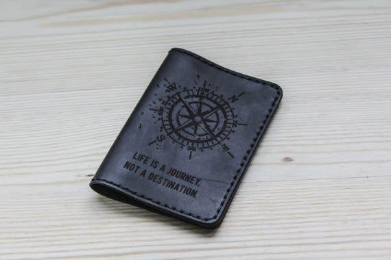 Personalized passport cover - black passport cover - Personalized passport holder - custom passport cover - leather passport - ticket holder