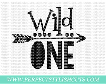 Wild One SVG, DXF, EPS, png Files for Cutting Machines Cameo or Cricut - 1st Birthday Svg, Birthday Svg, Onederful Svg, First birthday shirt