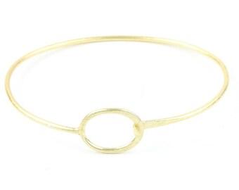 Minimalist Circle Brass Bracelet, Modern Bracelet, Bangle, Brass Bracelet, Simple Jewelry, Boho