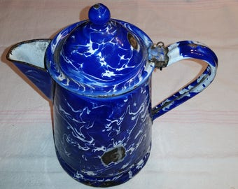 Splatterware Enamel Coffee Pot