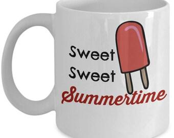 Popsicle Mug - Sweet Sweet Summertime - 11 oz Gift Mug