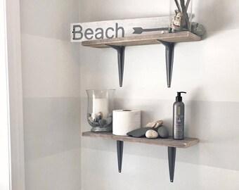 Beach Sign, Beach decor, Shabby Chi, White and Gray