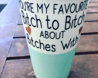 Best friend gift, decal for your own coffee mug or wine glass.