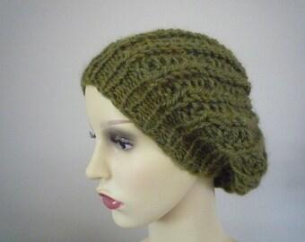 Hand knit Alpaca beret