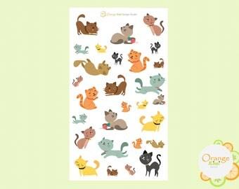 Cat Stickers, Cat Planner Stickers, Pet Planner Stickers, Cute Stickers, Pet Stickers, Kitty Cat Planner Stickers, Erin Condren Life Planner