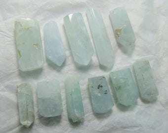 11 Pieces Aquamarine Crystals
