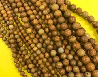 Wooden Jasper Beads, Round Wooden Jasper Beads, Faceted Wooden Jasper Beads, Wooden Jasper Beads, Wooden Jasper Bead, Jasper Beads, Jasper