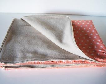 Fleece baby blanket and cotton fabric