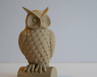 Wooden Owl - 3D Printed