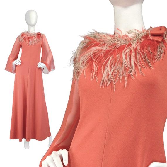 vintage clothing maxi dress xs s 70s boho dress