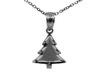 925 Sterling Silver Christmas Tree Necklace