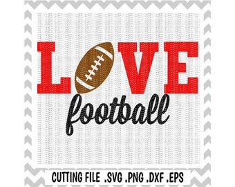 Football Svg, Love Football Svg, Football Mom,  Sports, Svg-Dxf-Studio 3, Cutting  Files for Silhouette & Cricut, Svg Download.