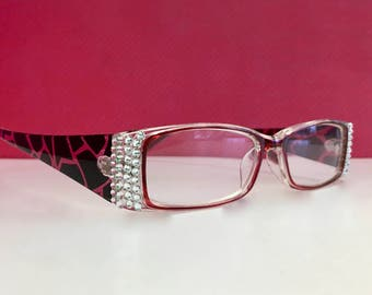 Swarovski Crystal Readers Reading Glasses  +1.50  +2.25