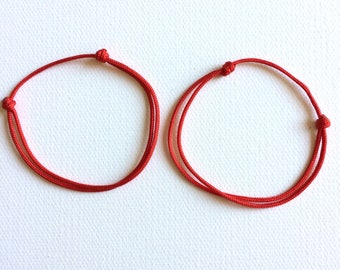 2 of  Lucky Bracelet Red String Red cord Good luck Bracelet