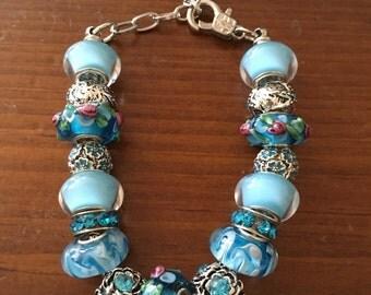 Tranquility Blue European style bracelet