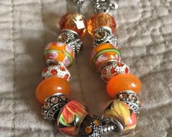 Crazy Cool Orange european style bracelet