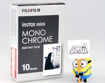 Fujifilm Instax Mini Film Monochrome Black and White - For Instax Mini 7, 8, 8+, 25, 50, 70, 90, SP-1, SP2, Polaroid PIC 300, Lomo Instant