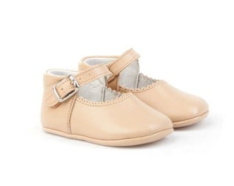 Tan Leather Mary janes Mereceditas baby shoes,Infant Booties