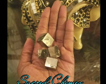 Pyrite Cube with Reiki Energy