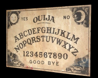 Unframed Aged Reproduction Ouija Board print.