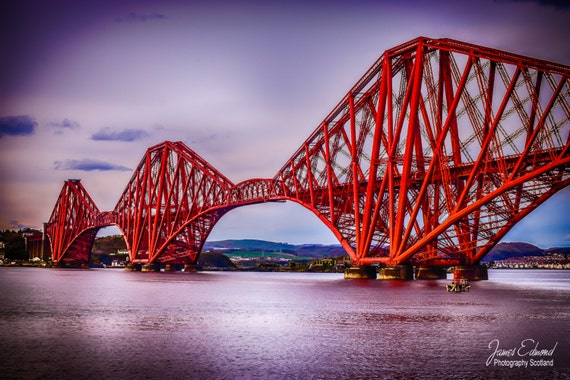 The Forth Bridge,Limited Edition, Landscape Photography, scottish print, wall art, fine art photography, river, scottish photography, Art