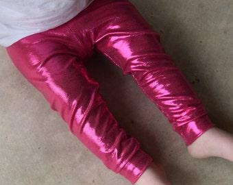 Hot Pink Sparkly Leggings for Baby, Toddler & Girls