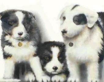 Puppies mural panel