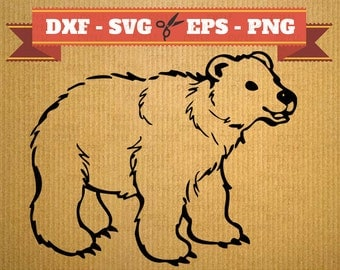 Bear SVG Files, Bear DXF Files, Png, Dfx, Eps, mama bear svg printable, bear print Silhoutte Studio Cricut Cameo, Design
