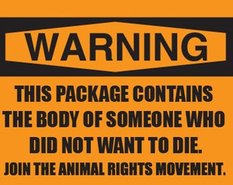 1200 pieces-Animal Rights Activism Stickers