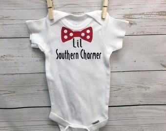 bow tie onesie, Baby boy onesies, southern charmer, Baby Boy Outfit, new baby onesie, baby shower gift, baby onesies, baby boy onesie