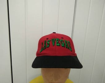 Rare Vintage LAS VEGAS Embroidered Spell Out Cap Hat Free size fit all