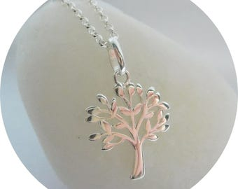 Sterling Silver Tree of Life pendant - Family Tree Pendant - Anniversary Necklace - Birthday Gift - Present for New Mom - Mother's Day Gift