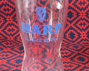 Vintage Harp Lager Glass