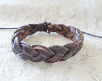 Brown leather bracelet, Leather children bracelet, Boy bracelet, Girl bracelet