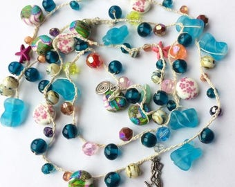 The Mermaid Bead Necklace - Half Price Sale....