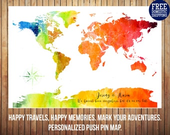 Travel Watercolor Etsy - Free customizable us map